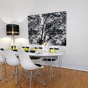白色欧式风餐厅设计效果