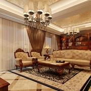 欧式风格古典风住宅欣赏客厅设计