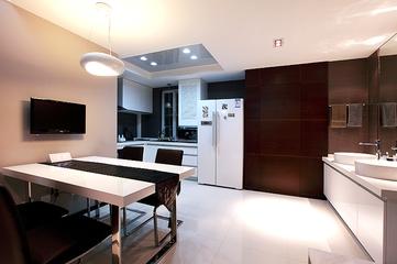 107平现代三室两厅欣赏餐厅效果图