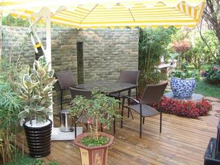 花园休息区效果图