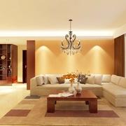 明亮客厅灯饰效果图 温馨四口之家