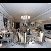 简欧风格住宅装修效果图设计客厅