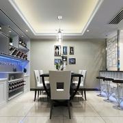 现代极简两居室欣赏餐厅吊顶