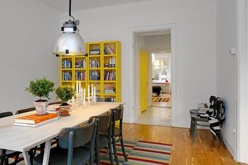 106平白色宜家住宅欣赏餐厅