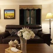 98平美式稳重住宅欣赏客厅陈设