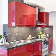 34平白色宜家一居室欣赏厨房