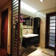 浴室简洁洗漱台效果图