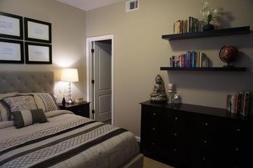 美式别墅装饰效果图次卧背景墙