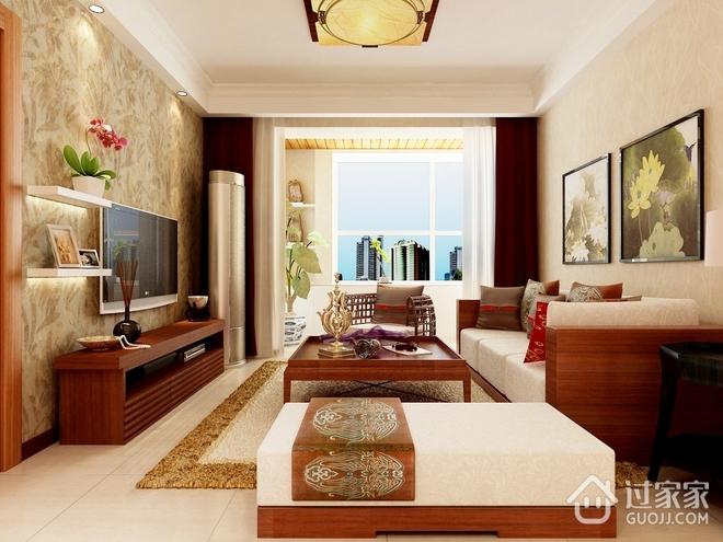 93平温馨东南亚风格住宅欣赏