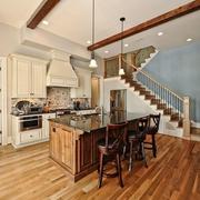地下室改造的开放式厨房