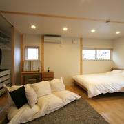 158平日式风格别墅欣赏卧室