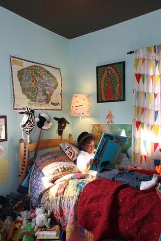 异域风情混搭住宅欣赏卧室窗帘