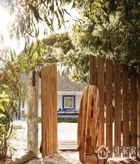 纯天然白色度假别墅欣赏花园设计