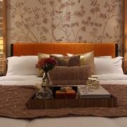 典雅新中式风 卧室背景墙装修效果图