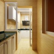 简约自然家居 厨房推拉门设计效果图