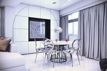 简约120平梦幻住宅欣赏餐厅设计