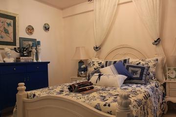 89平地中海样板房欣赏卧室电视柜