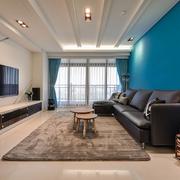 76平现代简约案例欣赏客厅