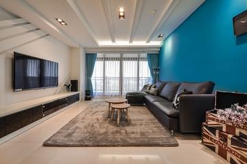 蓝色质感简约住宅欣赏