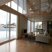 158平日式风格别墅欣赏客厅效果