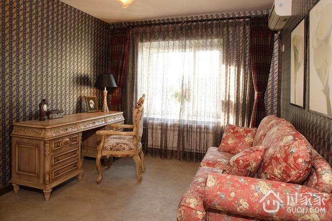 东南亚风格住宅欣赏客厅窗帘设计