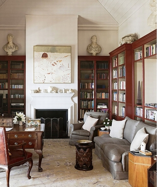地中海风情别墅欣赏书房