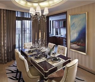 奢华新古典风格欣赏餐厅餐桌设计