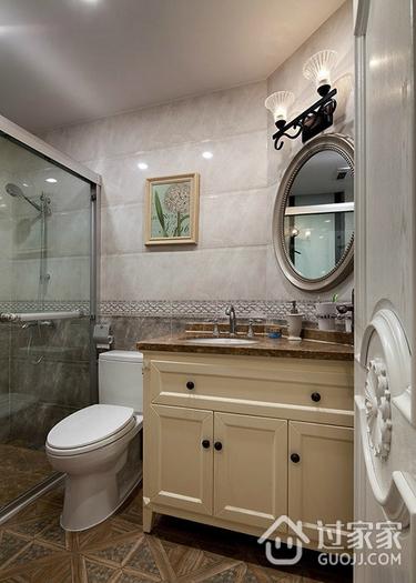 时尚美式卫生间设计效果图