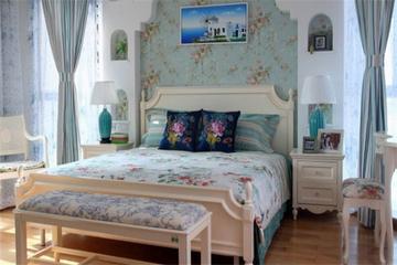 蓝色地中海住宅案例欣赏卧室