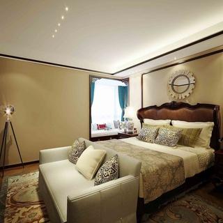 雅致新中式三居欣赏卧室飘窗