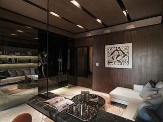 76平现代风两居室欣赏书房吊顶设计