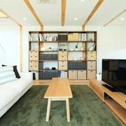 117平日式风格别墅欣赏客厅
