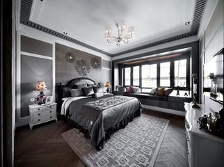新古典样板房三居室欣赏卧室背景墙设计