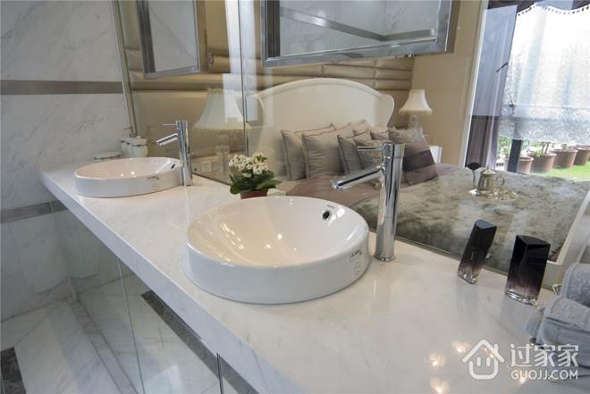 124平欧式三居室欣赏洗手间设计