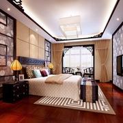 卧室背景墙装饰效果图 典雅新中式家居