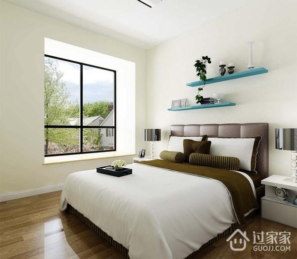 简约三居室案例效果欣赏卧室窗户