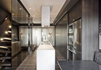 现代暗色调高端住宅欣赏厨房设计