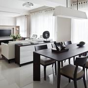 现代简约室内装修套图客餐厅