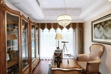 87平贵气美式三居室欣赏书房书柜