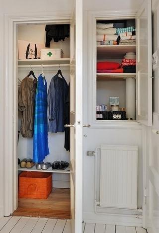 白色北欧两居室住宅欣赏衣柜