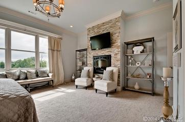 美式风格住宅装饰套图欣赏卧室背景墙