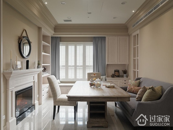 极致家装 美式乡村客厅飘窗装修效果图