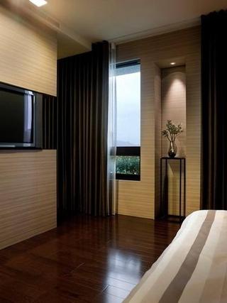 时尚富有个性 温馨卧室窗帘图片