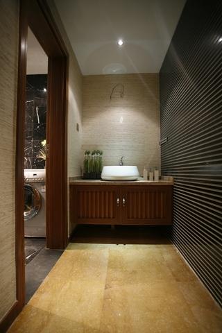 东南亚风格效果图卫生间洗手台