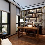 尽显中国风 新中式书房书架装饰图