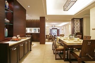 中式风格时尚餐厅效果图大全