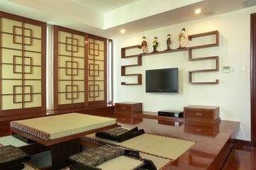 225平中式别墅欣赏茶室