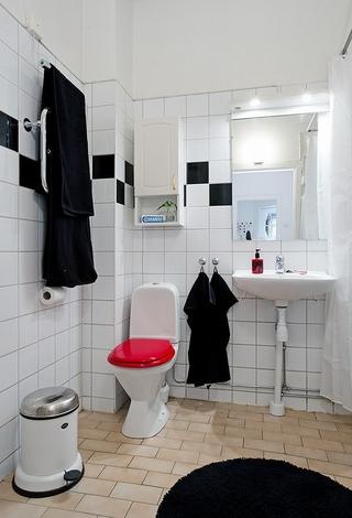 106平白色宜家住宅欣赏卫生间