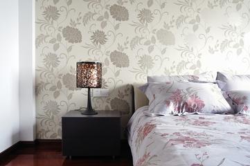 现代风格装修设计卧室床头