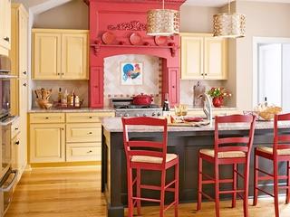红色经典田园住宅欣赏厨房
